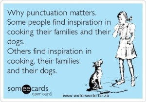Punctuation saves lives…