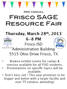 Frisco SAGE Resource Fair